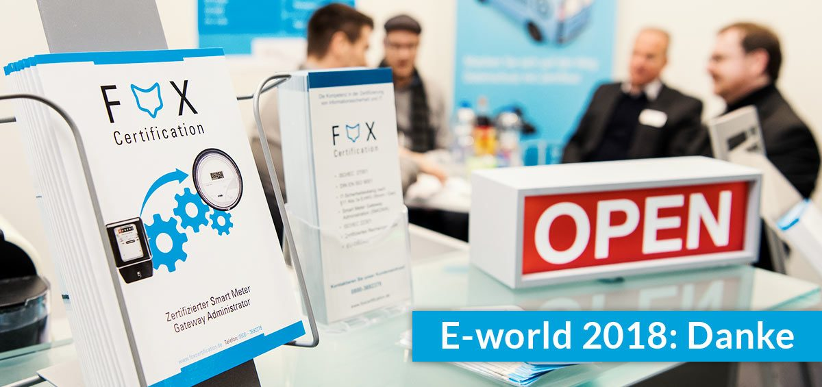 E-world energy & water 2018: Danke